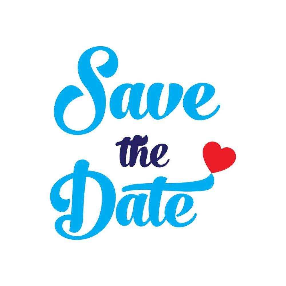 Sluitzegel Save the date blauw