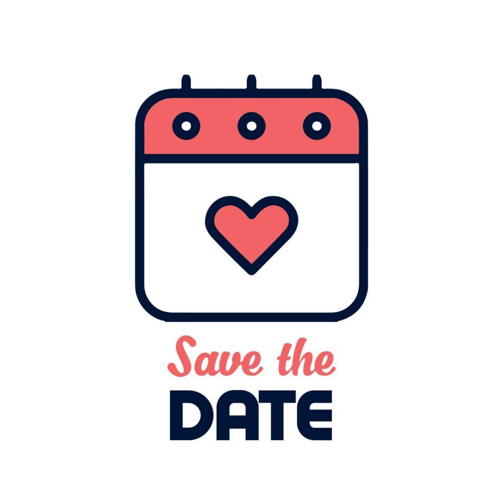 Sluitzegel Save the date kalender