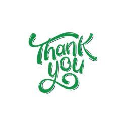 Sluitzegel Thank you groene letters