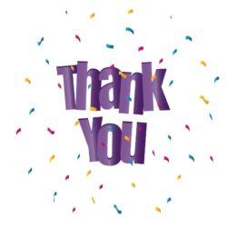Sluitzegel Thank you paarse letters