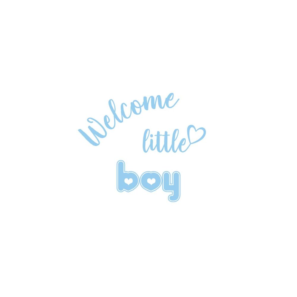 Sluitzegel Welcome little boy