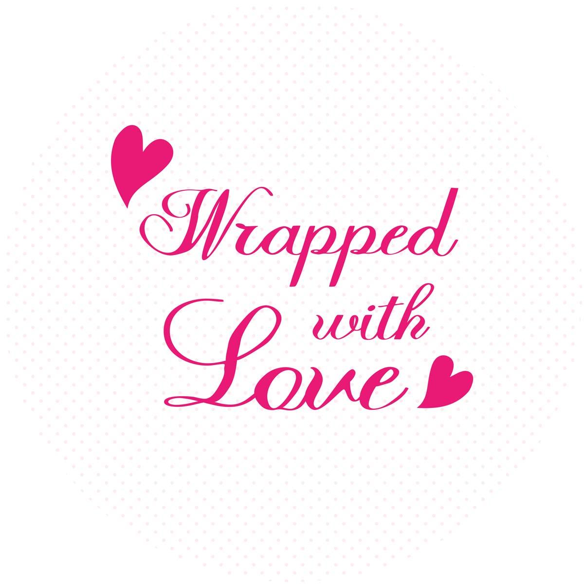 Sluitzegel Wrapped with love roze