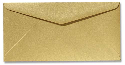 DL Envelop 11x22 cm Metallic Goud